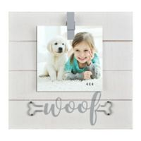 Woof Sentiment 4-Inch x 6-Inch Clip Photo Frame
