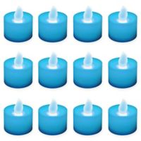 LumaBase® 12-Count LED Tea Light Candles in Blue