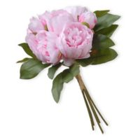 National Tree Company 12-Inch Artificial Peony Bundle in Pink