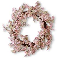 National Tree Company 16-Inch Pink Berry Artificial Wreath