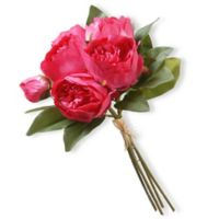 National Tree Company 12-Inch Artificial Peony Bouquet in Pink