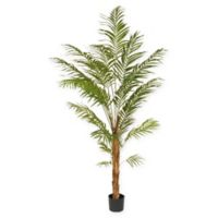 National Tree Company 7-Foot Artificial Palm Tree in Black Planter