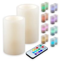 Battery-Operated Multi-Color LED Candles with Remote Control (Set of 2)