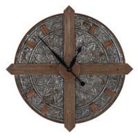 Household Essentials® Crosshair Large Numbers Metal Wall Clock