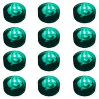 LumaBase® 12-Count Submersible LED Tea Light Candles in Teal