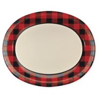 Creative Converting™ Disposable Buffalo Plaid Oval Plates (Set of 24)