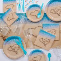 Creative Converting 82-Piece Beach Love Party Supplies Kit