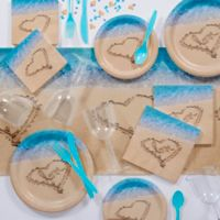 Creative Converting 82-Piece Beach Love Party Supplies Kit