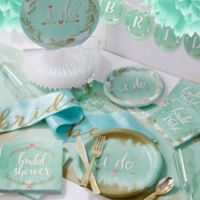 Creative Converting 246-Piece Mint To Be Bridal Shower Party Kit