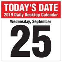 Today's Date 2019 Daily Desktop Calendar
