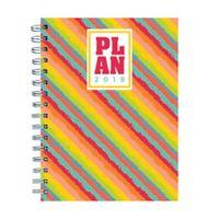 Rainbow Stripe Weekly/Monthly September 2018 - December 2019 Planner