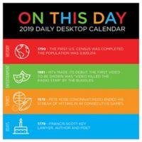 On This Day 2019 Daily Desktop Calendar