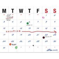 Large Letters 2019 Desk Pad Calendar