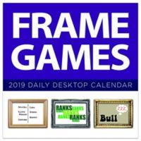 Frame Games 2019 Daily Desktop Calendar