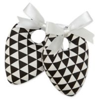 Protect My Shoes Women's ShoeStuffers in Black/White Triangles (Set of 2)