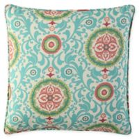Waverly® Lexie Outdoor Square Throw Pillow in Blue