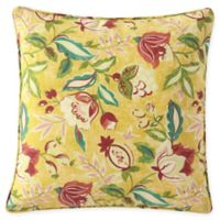 Waverly® Lexie Outdoor Square Throw Pillow in Yellow