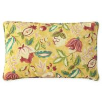 Waverly® Lexie Outdoor Oblong Throw Pillow in Yellow