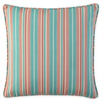Waverly® Lexie Outdoor Square Throw Pillow in Blue/Red
