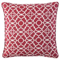 Waverly® Lexie Outdoor Square Throw Pillow in Red