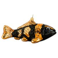 Joy to the World Collection Koi Fish Christmas Ornament in Orange/Black
