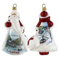 Joy to the World Collection Glitterazzi Swiss Santa Christmas Ornament
