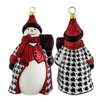 Joy to the World Collectibles 5-Inch Houndstooth Snowman Hanging Ornament