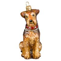 Joy to the World Collection Airedale Christmas Ornament