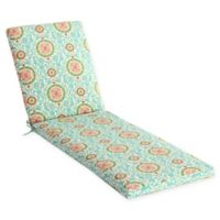 Waverly Lexie Medallion Outdoor Chaise Lounge Cushion in Blue