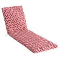 Waverly Lexie Geometric Outdoor Chaise Lounge Cushion in Red