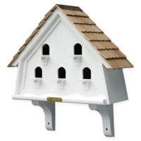 Flat Birdhouse in White/Natural