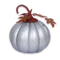 Large Galvanized Metal Pumpkin Decorative Accent