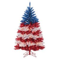 5-Foot Pre-Lit Patriotic American Christmas Tree with Clear Lights
