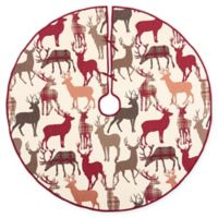 C&F Home Colton Tree Skirt in Red