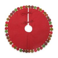 C&F Home Holiday Yo-Yo Mini Tree Skirt