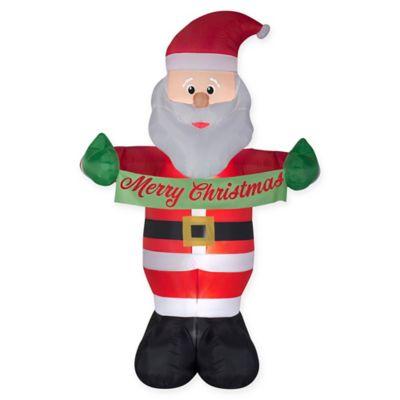 96 Inch Inflatable Merry Christmas Santa Yard Decor