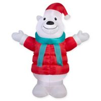 7-Foot Inflatable Polar Bear Yard Decor