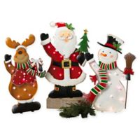 Gerson 3-Piece LED Holiday Characters Set