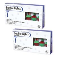 Gerson Holiday Bubble Lights in Multicolor (Set of 2)