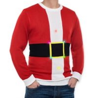 Mr. Christmas Light Up Santa Sweater in Red