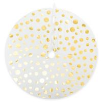 54-Inch Glam Dots Christmas Tree Skirt in White