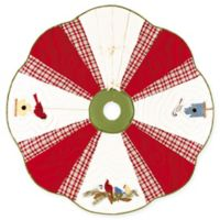 C&F Home Feathered Holidays Quilted Tree Skirt