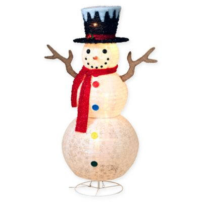Buy lighted snowman from bed bath beyond gerson outdoor lighted snowman keyboard keysfo Gallery