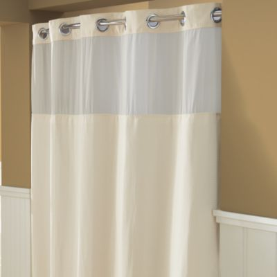 cream colored shower curtain. Hookless  Waffle 71 Inch x 74 Fabric Shower Curtain in Cream Buy from Bed Bath Beyond