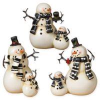 Gerson Resin Snowmen (Set of 3)