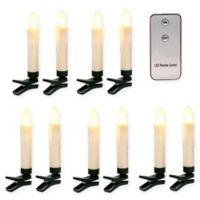 Gerson Infrared LED Taper Candles in Bisque (Set of 10)