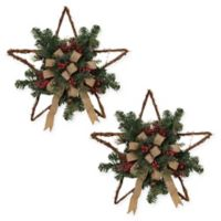 Gerson Twig Holiday Stars (Set of 2)