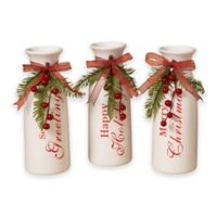 Gerson Dolomite Holiday Vases (Set of 3)