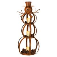 Gerson Metal Snowman Candle Holder