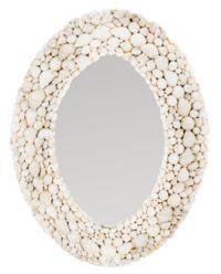 Safavieh Norris 24-Inch x 18-Inch Oval Mirror in White